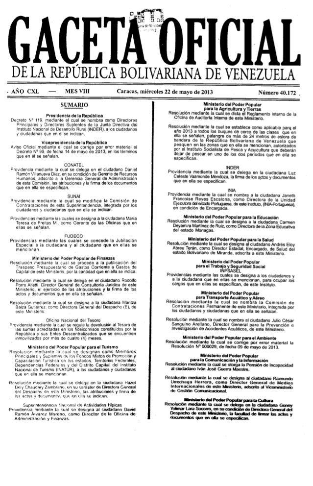 Normas Generales de Auditoría de Estado 22 de mayo de 2013
