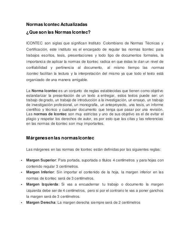 NORMAS ICONTEC ACTUALIZADAS PDF