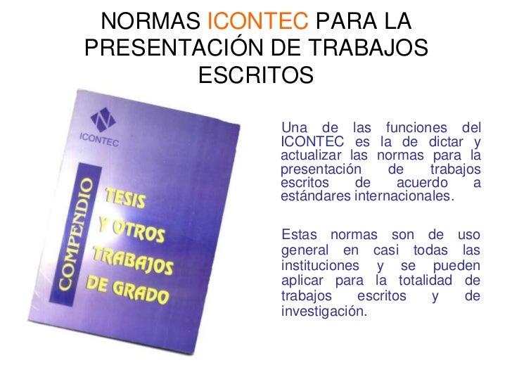 Normas Icontec Para Trabajos Escritos - photo#30