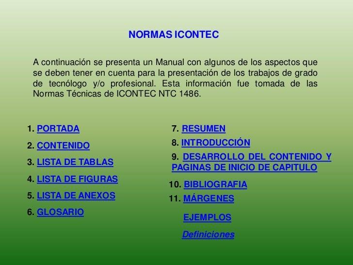 Normas icontec presentación trabajos escritos - photo#47