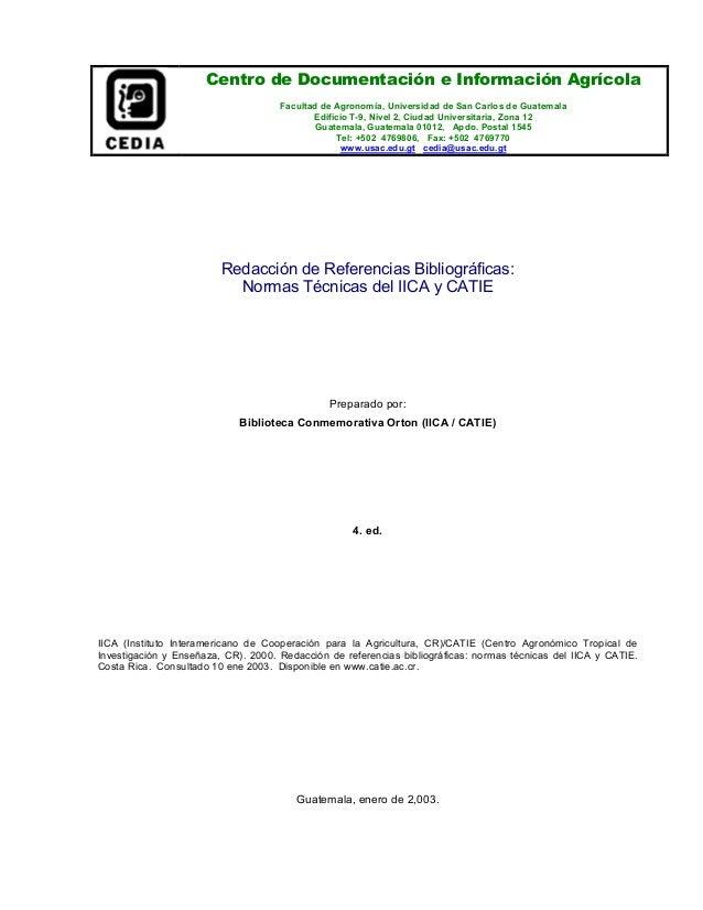 Centro de Documentación e Información Agrícola Facultad de Agronomía, Universidad de San Carlos de Guatemala Edificio T-9,...