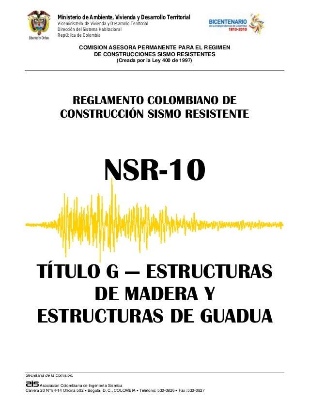 Ministerio de Ambiente, Vivienda y Desarrollo Territorial Viceministerio de Vivienda y Desarrollo Territorial Dirección de...