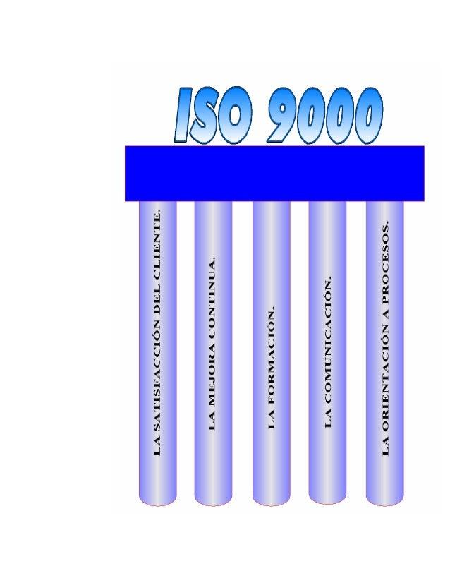 INTRODUCCIONLas normas ISO 9000 (Organización Internacional De Normalización) han sidoelaboradas para asistir a las organi...