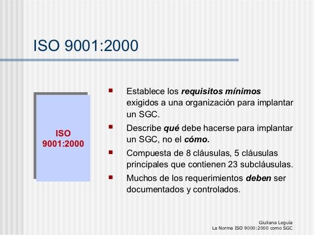 Normas Iso 9001 2000
