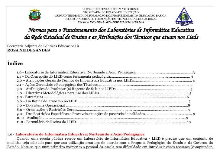 GOVERNO DO ESTADO DE MATO GROSSO                                                        SECRETARIA DE ESTADO DE EDUCAÇÃO  ...
