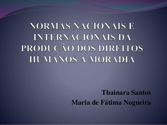 Thainara Santos Maria de Fátima Nogueira