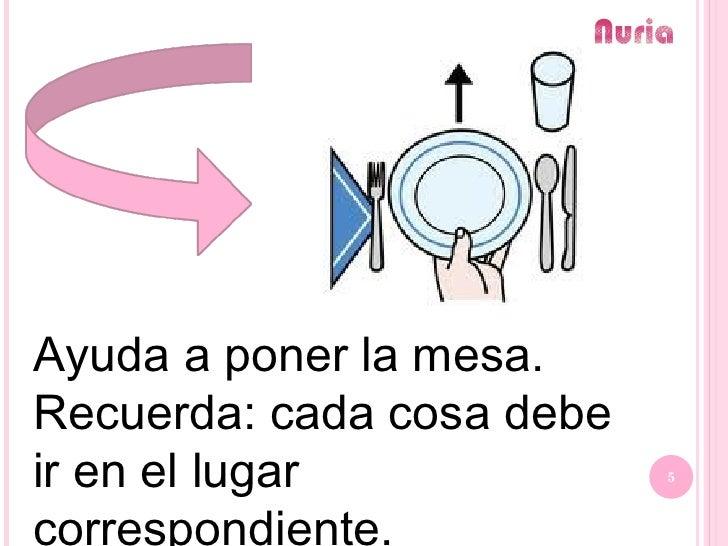 Normas para educaci n en la mesa copia for Poner la mesa correctamente