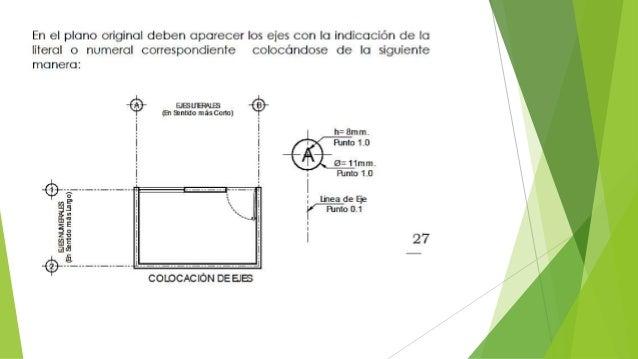 Normas para el dibujo de planos for Simbologia de niveles en planos arquitectonicos