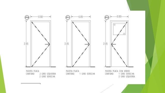 Normas para el dibujo de planos for Simbologia de puertas en planos arquitectonicos