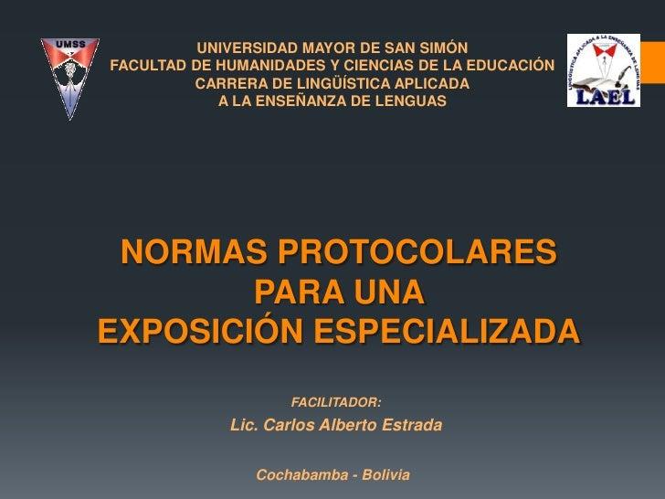 UNIVERSIDAD MAYOR DE SAN SIMÓNFACULTAD DE HUMANIDADES Y CIENCIAS DE LA EDUCACIÓN         CARRERA DE LINGÜÍSTICA APLICADA  ...
