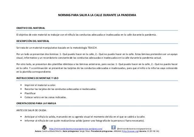 https://mirincondeclaserecursosyexperiencias.wordpress.com/ Autora: Carolina Albalat Martín. Autor pictogramas: NORMAS PAR...