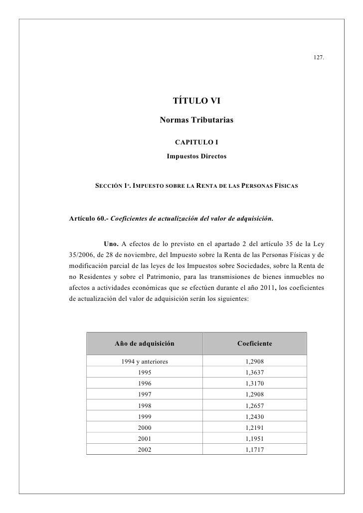 127.                                           TÍTULO VI                                    ormas Tributarias             ...