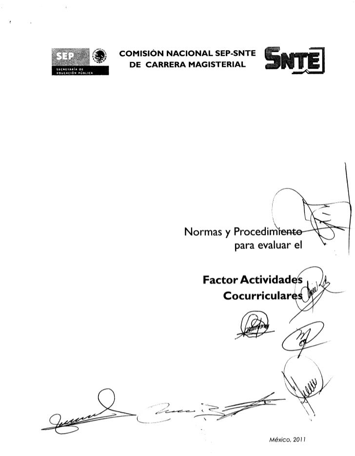 COMISION NACIONAL SEP-SNTE                 :                       DE CARRERA MAGISTERIAL10InktioN Polk                   ...