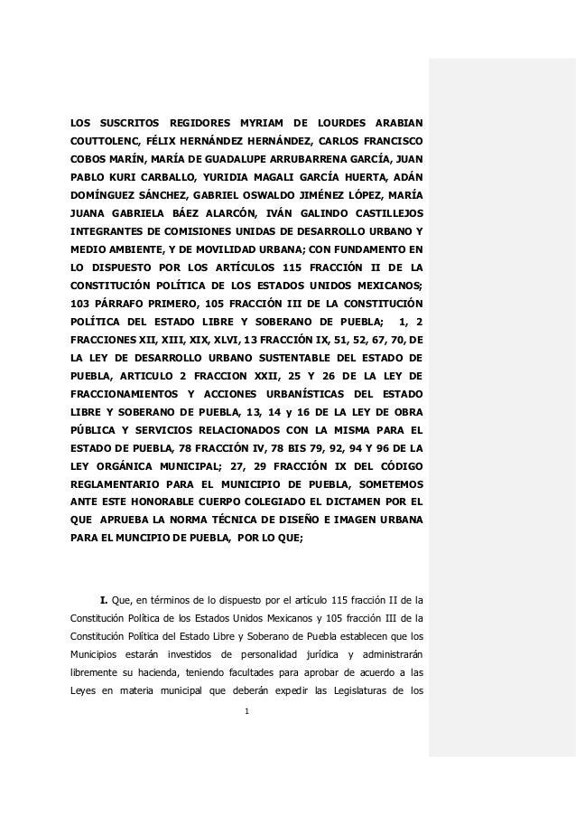 1 LOS SUSCRITOS REGIDORES MYRIAM DE LOURDES ARABIAN COUTTOLENC, FÉLIX HERNÁNDEZ HERNÁNDEZ, CARLOS FRANCISCO COBOS MARÍN, M...