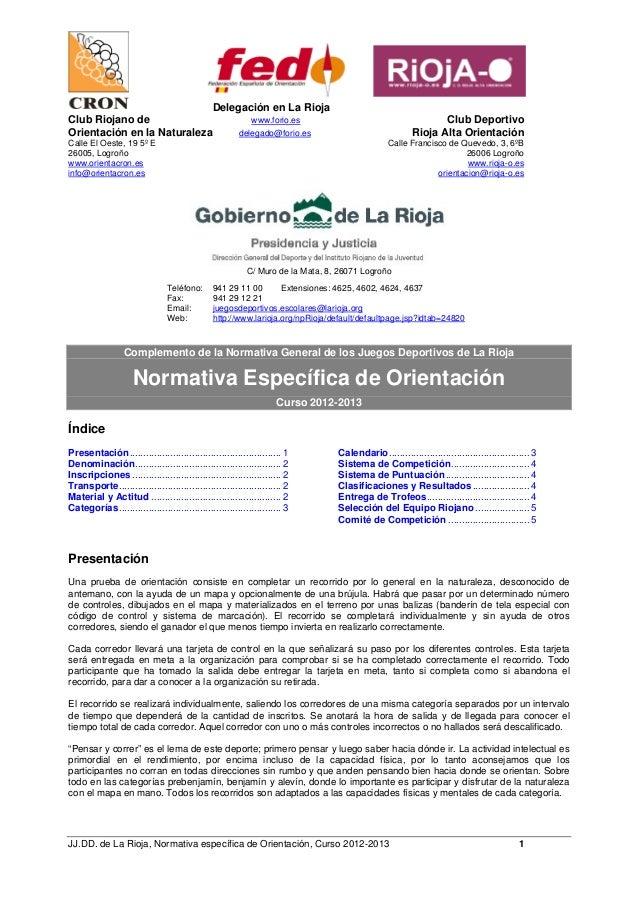 Delegación en La RiojaClub Riojano de                                           www.forio.es                              ...