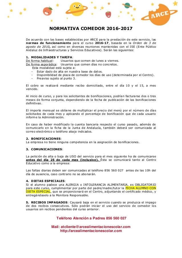 normativa arce comedores 2016 2017 tablon de anuncios- cadiz- antes 1…