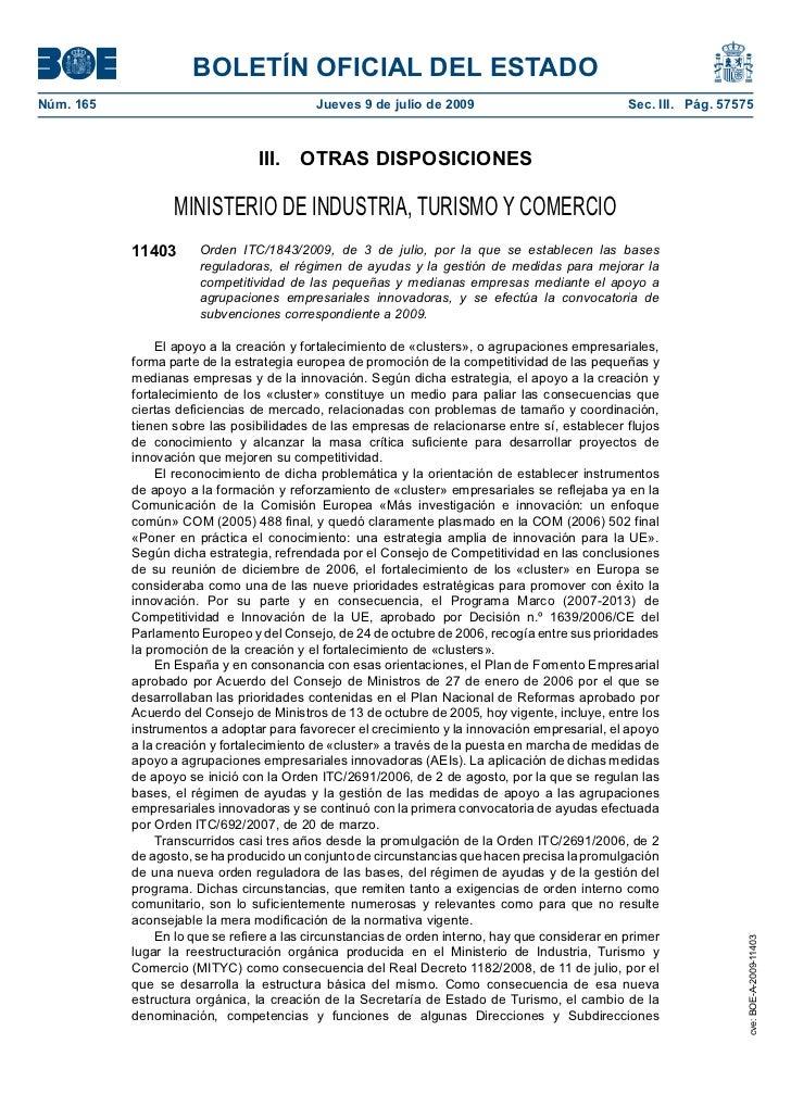 BOLETÍN OFICIAL DEL ESTADONúm. 165                                   Jueves 9 de julio de 2009                            ...