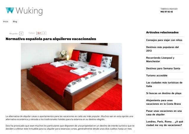 Normativa española para viviendas de alquiler vacacional