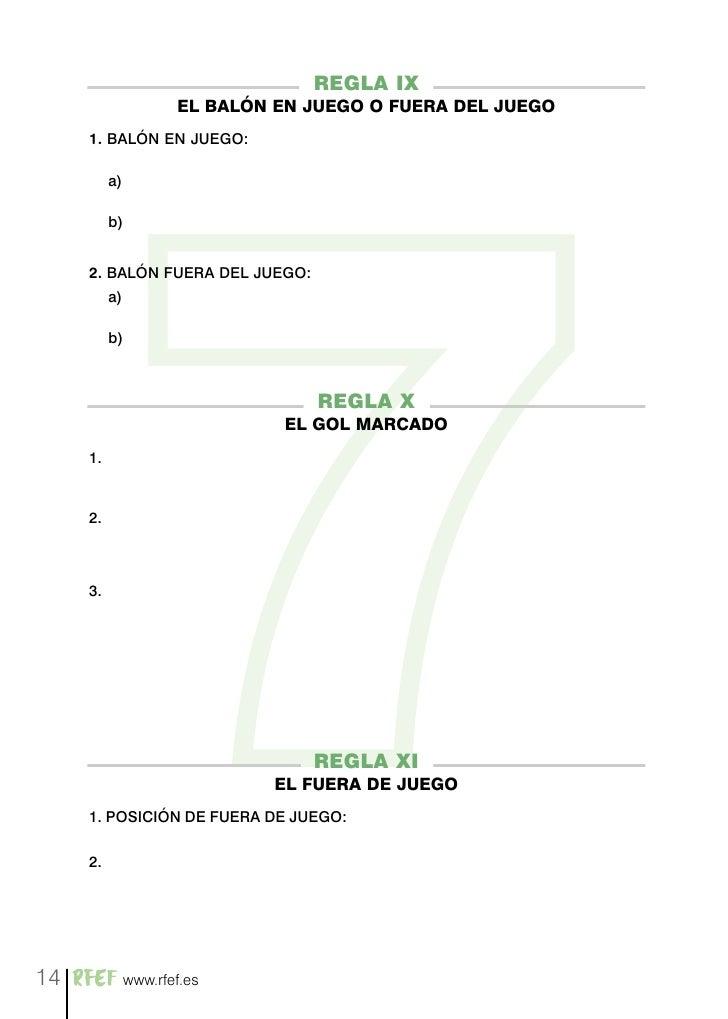 Normativa f tbol 7 for Regla de fuera de juego en futbol