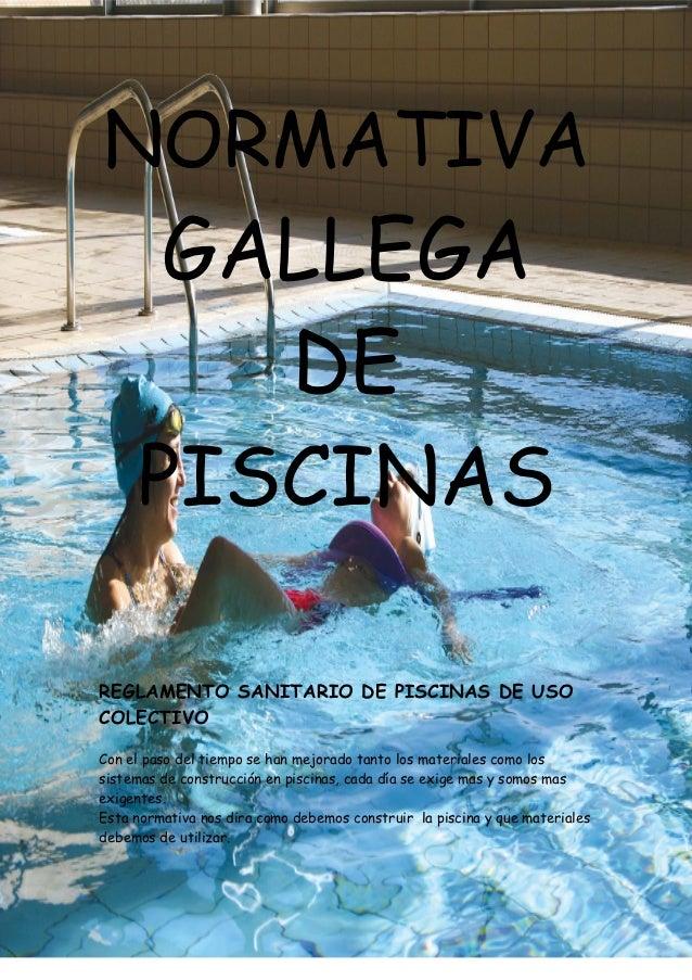 Normativa gallega de piscinas for Normativa piscinas canarias