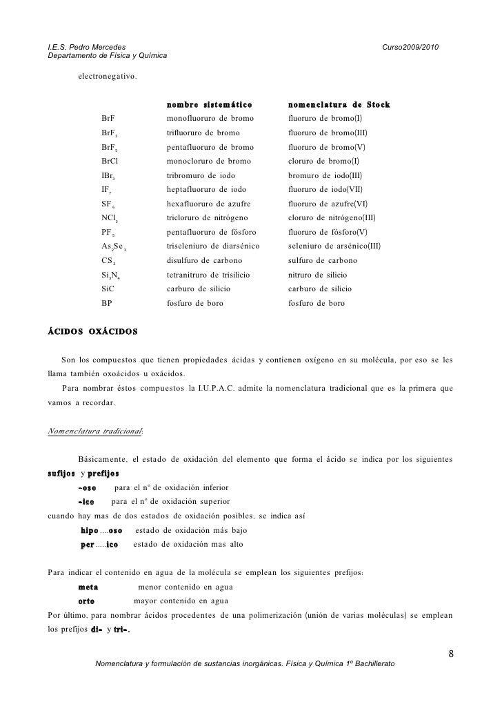 Normativa iupac formulacion inorganica - Normativa detectores de metales ...