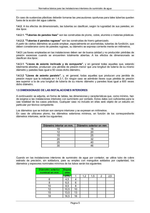 Normativa para instalaciones interiores de suministro de agua - Paredes de agua para interiores ...