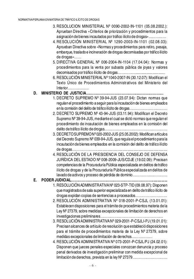 Normativa sobre drogas - Subastas ministerio del interior ...