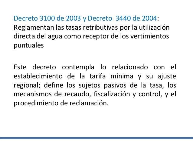 DECRETO 3440 DE 2004 EPUB