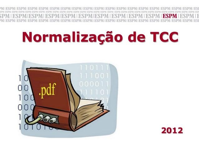 Normalização de TCC                                                                                       ...