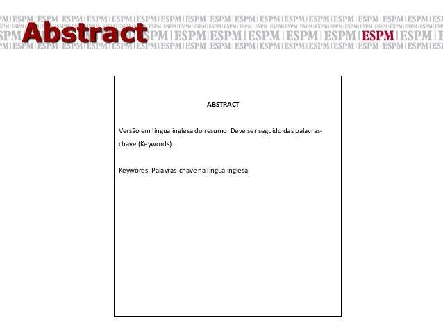 Abstract                                                ABSTRACT              Versão em língua inglesa do re...