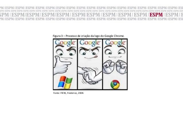 Figura 3 – Processo de criação da logo do Google Chrome.Fonte: FIENI, Frederico, 2008.