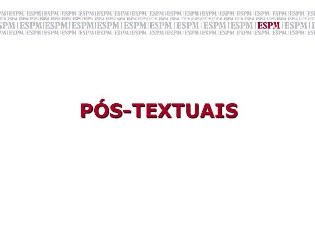 PÓS-TEXTUAIS