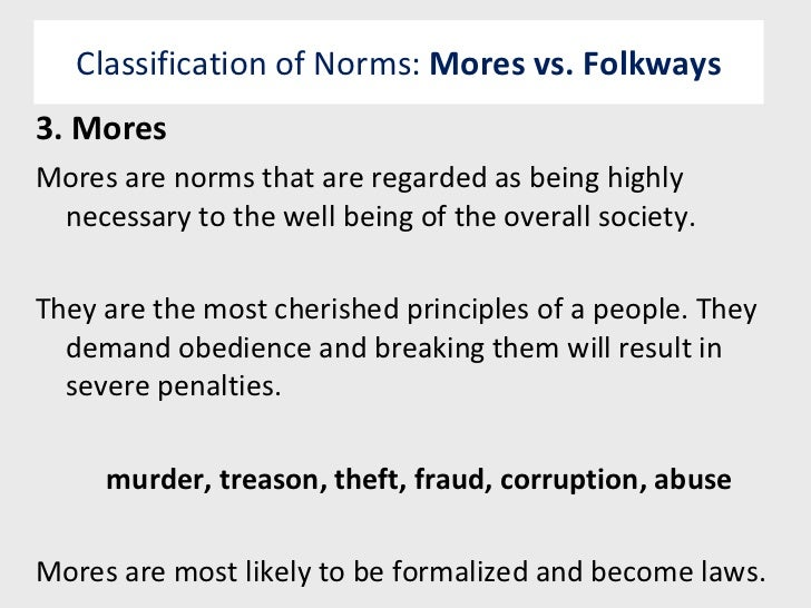 mores definition sociology