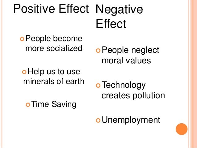 positive effects of technology on socialization