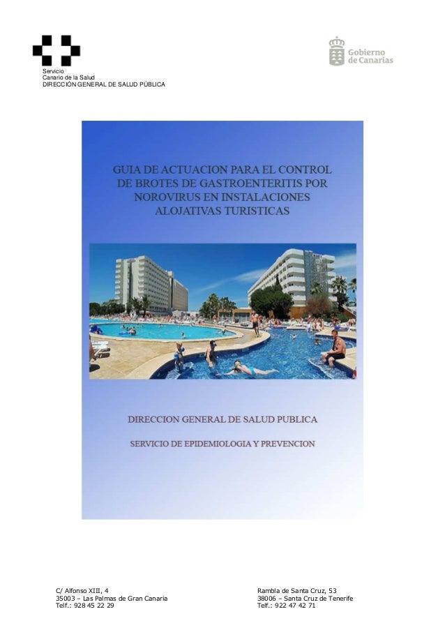 Gu a actuaci n norovirus en hoteles - Guia de tenerife pdf ...
