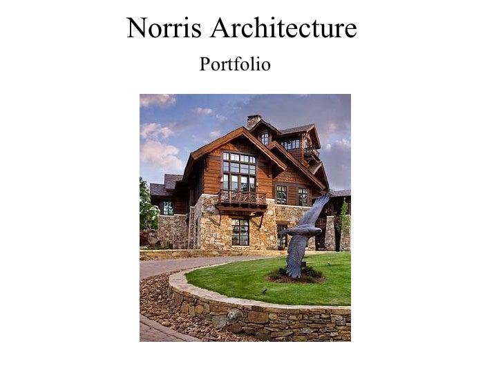 Norris Architecture Portfolio