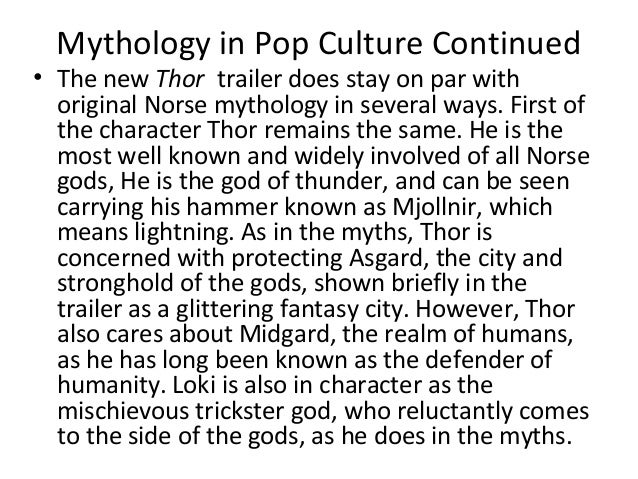 norse mythology in modern culture Norse mythology in popular culture: it features many representations of norse mythological figures in a modern-day setting the three norns, urd.