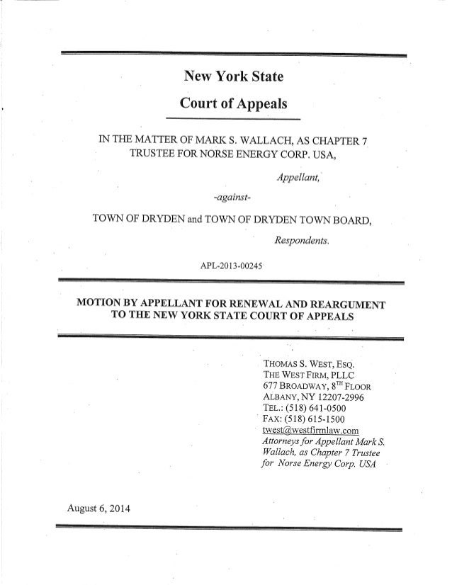 Norse energy appeal of town frack ban back to ny court of appeals for new york state court of appeals in the matter of s wallach yelopaper Image collections