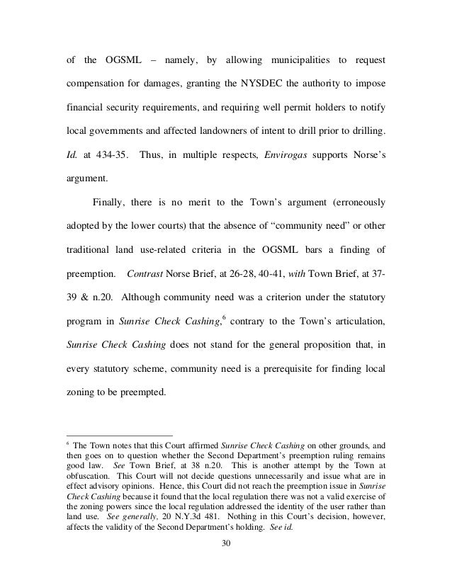 Ny Town Ban Court Case Norse Trustee Appellate Reply Brief