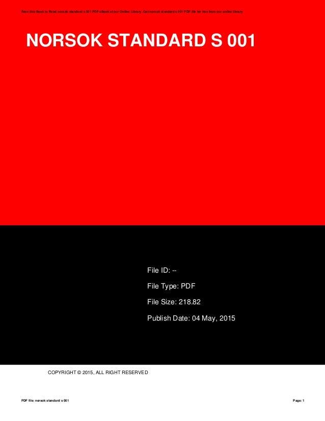 Norsok r 002 pdf.
