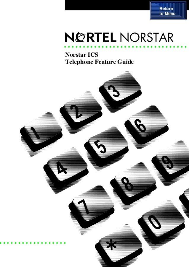 nortel norstar ics telephone feature guide rh slideshare net norstar startalk flash user guide Norstar SD