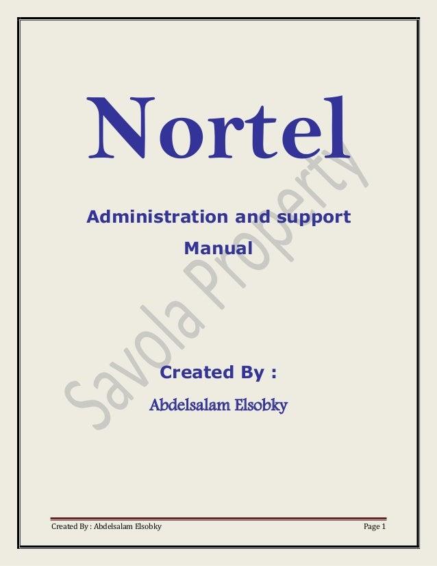 Nortel manual