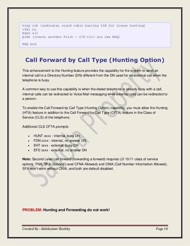 Nortel option manual