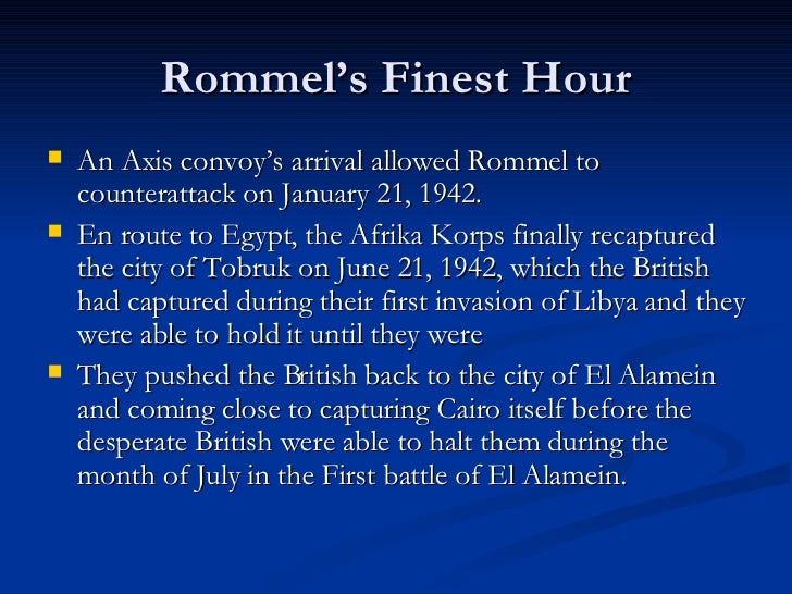Tobruk - Recaptured