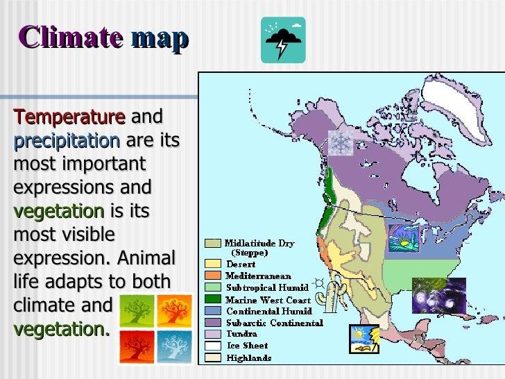 North America - Vegetation map of north america