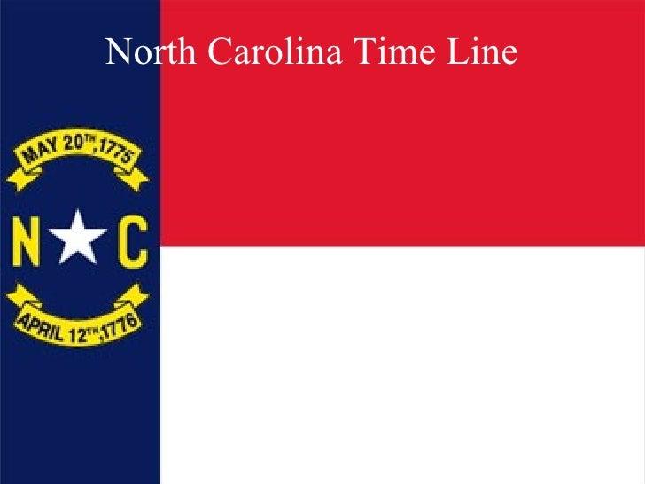 North Carolina Time Line