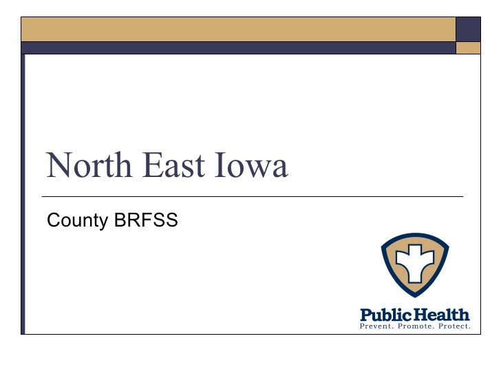 North East Iowa County BRFSS