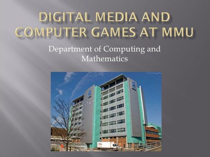 Department of Computing and Mathematics