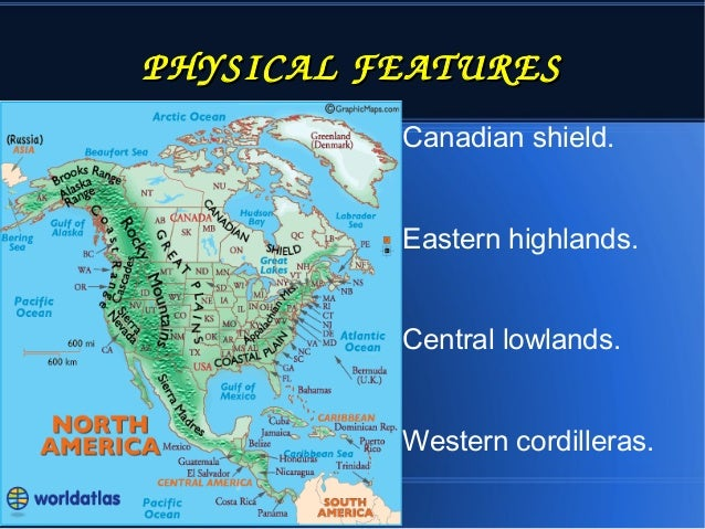 North America - Central lowlands map