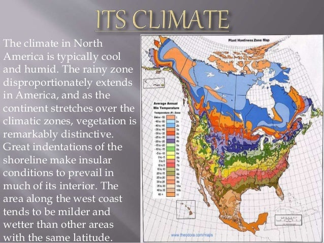 Map Of North America Climate Zones.Geography Of North America